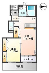 高木西賃貸アパート新築工事[103号室]の間取り