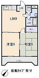 愛知県岡崎市洞町字的場の賃貸マンションの間取り