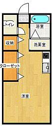 エバーライフ西高松[102号号室]の間取り