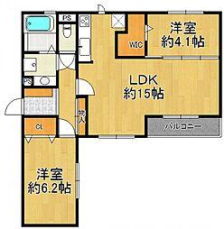 (仮称)武庫之荘5丁目D-room[3階]の間取り
