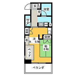 鶴舞ガーデンコート[9階]の間取り