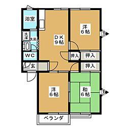 イーストヴィレッジA棟[2階]の間取り