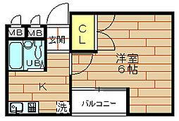 小松ビル[4階]の間取り