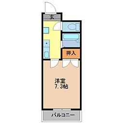 京都府京都市伏見区越前町の賃貸マンションの間取り