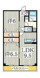 コンフォート・ガーデン[3階]の間取り