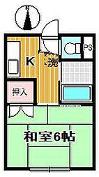 第2サンハイツ木町[2階]の間取り