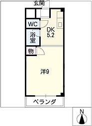 レジデンス川名山[4階]の間取り
