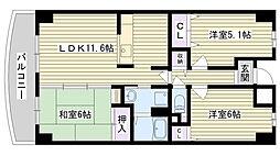 グランドソーワ今福鶴見[7階]の間取り