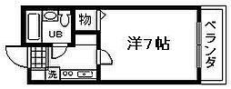 大阪府貝塚市海塚の賃貸マンションの間取り