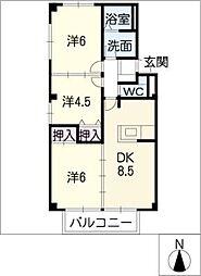ハレマハロ A棟[2階]の間取り