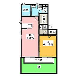 グランサージュ B棟[1階]の間取り