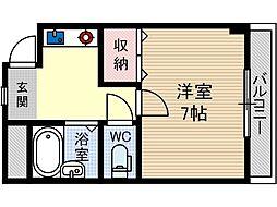 ディアコート舟木[3階]の間取り