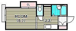 パインコート A棟[2階]の間取り