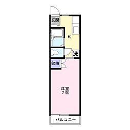 ソレイユ杉田[1階]の間取り
