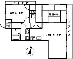 サンクレール大宮[2階]の間取り