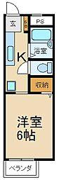 大阪府枚方市出口5丁目の賃貸アパートの間取り