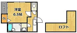 ベネフィスタウン六本松2[2階]の間取り