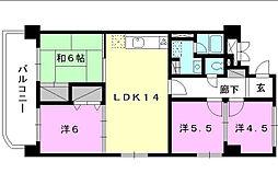 空港中央ビル[301 号室号室]の間取り