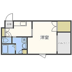 エイペックス京町堀[3階]の間取り