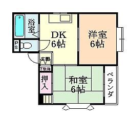 コーポ神田I[203号室]の間取り