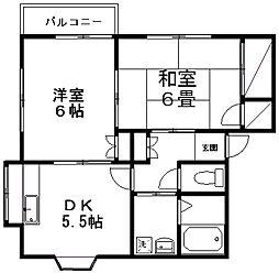 ルネス坂井B[1-2号室]の外観