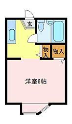 神奈川県横浜市金沢区富岡東5丁目の賃貸アパートの間取り