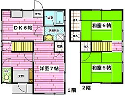 [一戸建] 広島県広島市安佐南区西原2丁目 の賃貸【/】の間取り