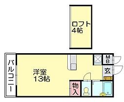 タチバナコーポ[4階]の間取り