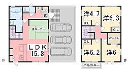 [一戸建] 兵庫県姫路市網干区坂出 の賃貸【/】の間取り