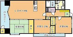 エクレールフェミーナ折尾(分譲賃貸)[9階]の間取り