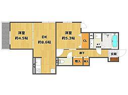(仮称)南武庫之荘4丁目D-room[103号室]の間取り