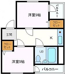 大阪府大阪市鶴見区横堤2丁目の賃貸マンションの間取り