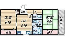 リバーサイドマンション・レオII[303号室]の間取り