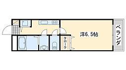 シャンティー泉佐野[302号室]の間取り