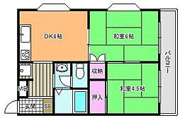 コーポ・シーダII[4階]の間取り