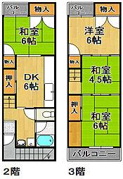 [一戸建] 大阪府大阪市大正区南恩加島5丁目 の賃貸【/】の間取り
