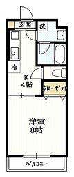 グロワール[4階]の間取り