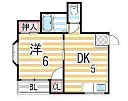 ペントハウス三箇[101号室]の間取り