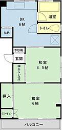 千葉県浦安市当代島2の賃貸アパートの間取り
