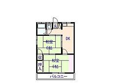 宮前ハイツA[A-5号室]の間取り