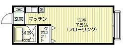 グランメール辰巳[206号室号室]の間取り
