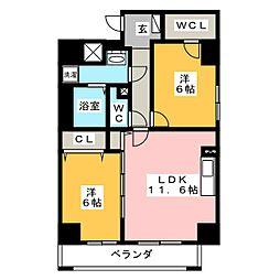トン シェトア[3階]の間取り