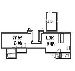 YTS41[105号室]の間取り