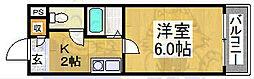パークサイド八幡[4階]の間取り