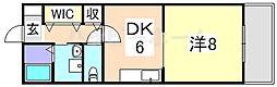 プリメール龍野[3階]の間取り