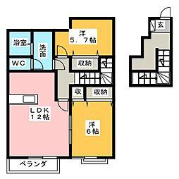 フリージアガーデンIII[2階]の間取り
