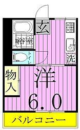 シティハイム新松戸[2階]の間取り