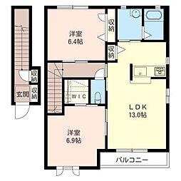 Pensee II[2階]の間取り