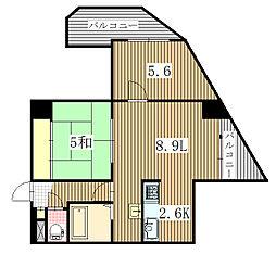 コーワ宮の沢III[8階]の間取り