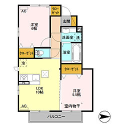 (仮)D-room高井町[106号室]の間取り